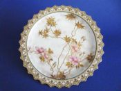 Quality Doulton Burslem Hand Painted Aesthetic Movement Cabinet Plate c1891